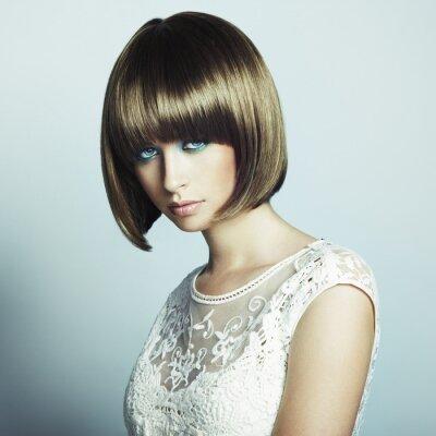 Fotomural Retrato da mulher sensual bonita com penteado elegante