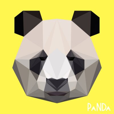 Fotomural Retrato de panda geométrica geométrica