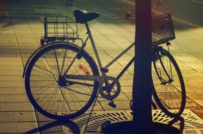 Fotomural Retro bike on the street