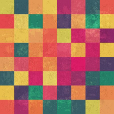 Fotomural Retro squary colorful vintage vector background