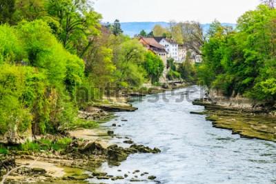 Fotomural Rio Aare na cidade de Brugg na Suíça