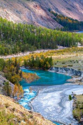 Fotomural rio azul em montanhas