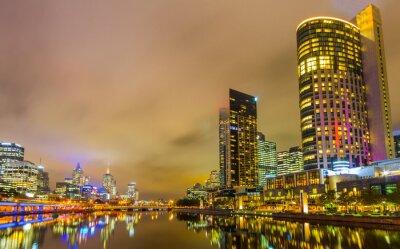 Fotomural Rio Yarra e horizonte de Melbourne.