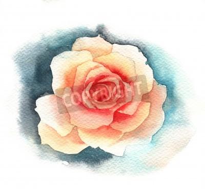 Fotomural Rosa de aquarela