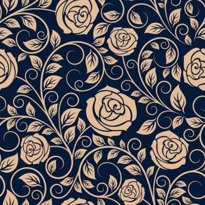 Fotomural Rosas flores do vintage teste padrão sem emenda