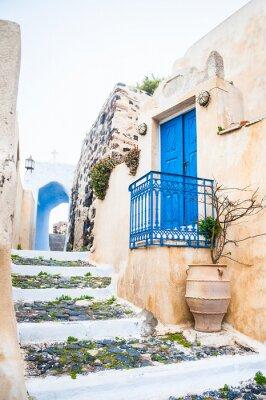 Fotomural Rua velha na vila de Pyrgos