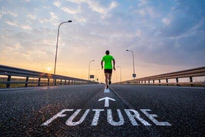 Fotomural Run in the future