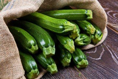 Fotomural Saco de pano de zucchine