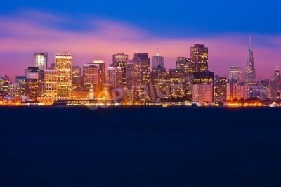 Fotomural San Francisco skyline at night