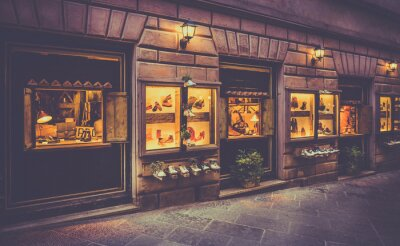 Fotomural Sapatos loja na Toscana