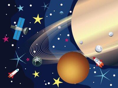 Fotomural Saturno no Espaço