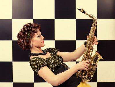 Fotomural Saxofonista expressivo