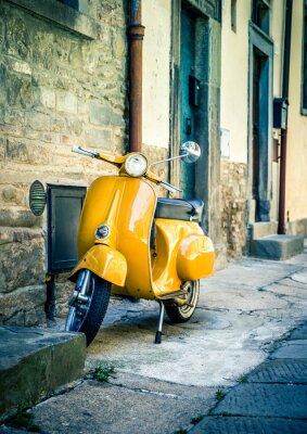 Fotomural Scooter, tuscan, Cortona, cidade
