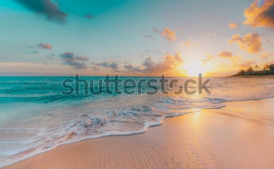 Fotomural sea beach blue sky sand sun daylight relaxation landscape viewpoint for design postcard and calendar in thailand