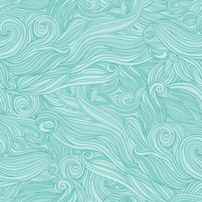 Fotomural Seamless abstract pattern, tangle wavy hair background