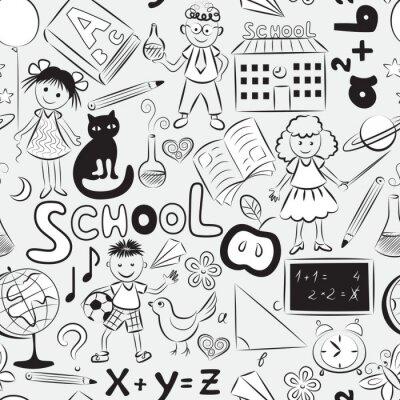 Fotomural Seamless com tema da escola