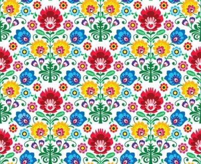 Fotomural Seamless floral polonês - etnia