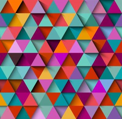 Fotomural Seamless, fundo, Padrão, triângulos, sombras, eps10, vetorial