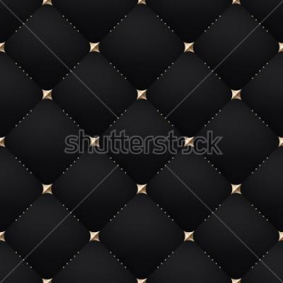 Fotomural Seamless luxury dark black pattern and background. Vector Illustration