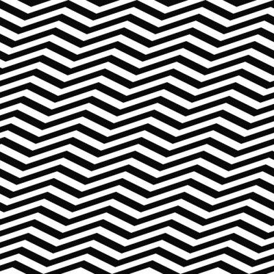 Fotomural Seamless padrão chevron branco preto