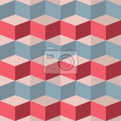 Fotomural Seamless padrão geométrico framboesa
