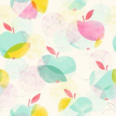 Fotomural Seamless, Padrão, maçãs