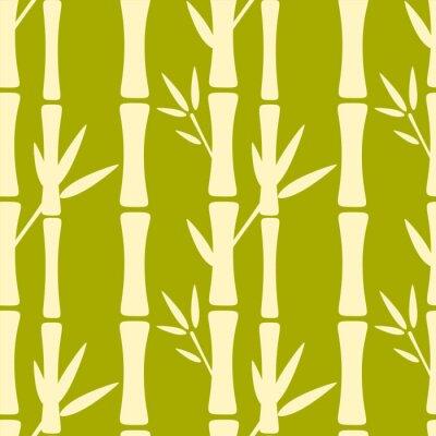 Fotomural Seamless, Padrão, silhuetas, bambu, árvores