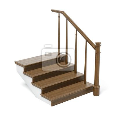 Fotomural seção transversal escadas de madeira