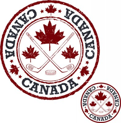 Fotomural Selo canadense do hóquei.