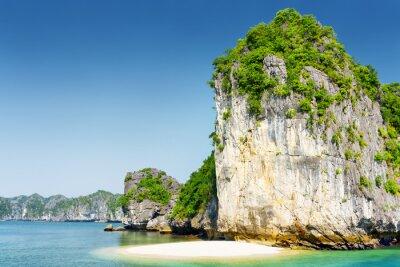 Fotomural Selvagem, praia, desabitada, tropicais, ilha, Ha, longo, baía