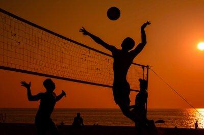 Fotomural Silhueta vôlei de praia