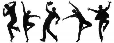 Fotomural Silhuetas de dançarinos em conceito de dança
