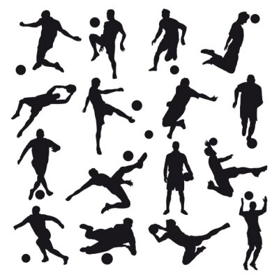 Fotomural Silhuetas de futebol