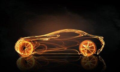 Fotomural Símbolo da luz do carro