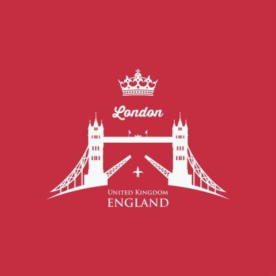 Fotomural Símbolo da ponte da torre de Londres
