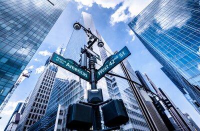 Fotomural Sinais de sentido em Nova Iorque