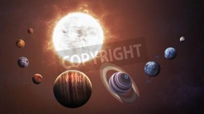 Fotomural Sistema solar e objetos espaciais. Elementos desta imagem fornecidos pela NASA