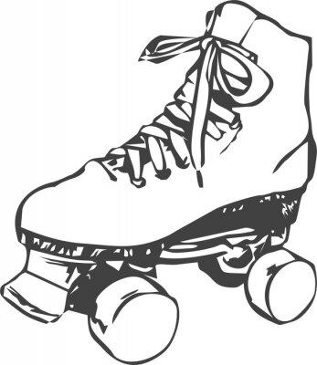 Fotomural skate de rolo