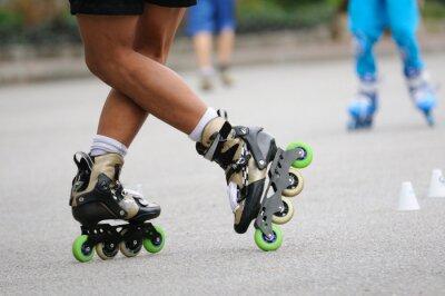 Fotomural Skater pé espera para treinamento, ação do esporte.