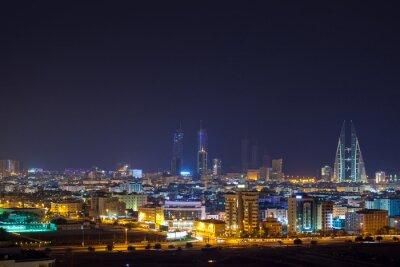 Fotomural Skyline da noite de Manama, capital do Bahrein