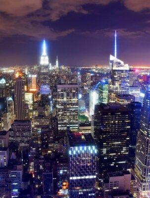 Fotomural Skyline de New York City na noite