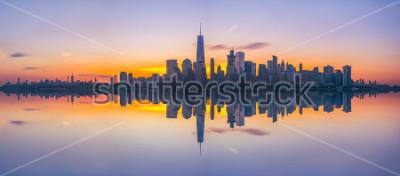 Fotomural Skyline de Nova York reflexões ao nascer do sol