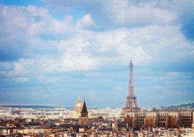 Fotomural Skyline de Paris com torre eiffel