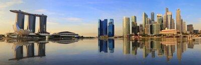 Fotomural Skyline de Singapore panorama da manhã