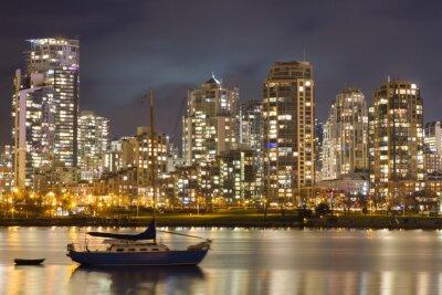 Fotomural Skyline e veleiro de Vancôver