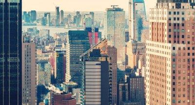 Fotomural Skyline, Novo, york, cidade, pôr do sol