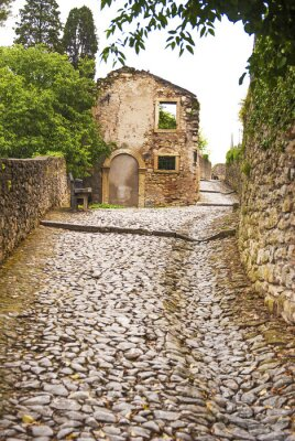 Fotomural Soave, strada al Castello.