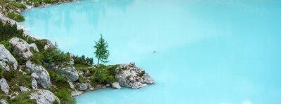 Fotomural Sorapis lago, Dolomitas montanha