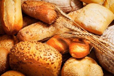 Fotomural Sortido, assado, pão, trigo