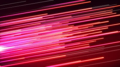Fotomural Speed line Pink and red